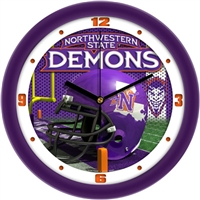 "Northwestern State Demons 12"" Football Helmet Wall Clock"