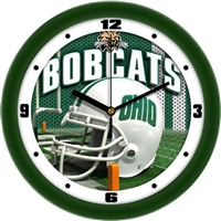 "Ohio Bobcats 12"" Football Helmet Wall Clock"