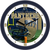 "Pittsburgh Panthers 12"" Football Helmet Wall Clock"
