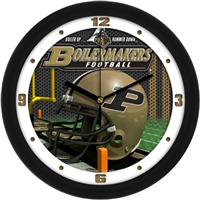 "Purdue Boilermakers 12"" Football Helmet Wall Clock"
