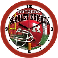 "Rutgers Scarlet Knights 12"" Football Helmet Wall Clock"