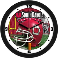 "South Dakota Coyotes 12"" Football Helmet Wall Clock"