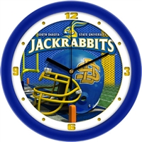 "South Dakota State Jack Rabbits 12"" Football Helmet Wall Clock"