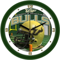 "South Florida Bulls 12"" Football Helmet Wall Clock"