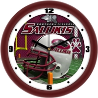 "Southern Illinois (SIU) Salukis 12"" Football Helmet Wall Clock"