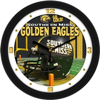 "Southern Mississippi (USM) Golden Eagles 12"" Football Helmet Wall Clock"