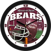 "Missouri State Bears 12"" Football Helmet Wall Clock"