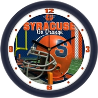 "Syracuse Orange 12"" Football Helmet Wall Clock"