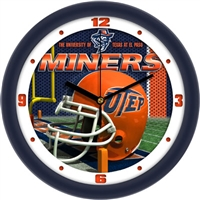 "UTEP Miners 12"" Football Helmet Wall Clock"