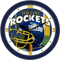 "Toledo Rockets 12"" Football Helmet Wall Clock"