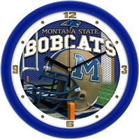 "Montana State Bobcats 12"" Football Helmet Wall Clock"
