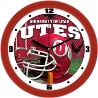 "Utah Utes 12"" Football Helmet Wall Clock"