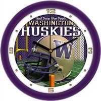 "Washington Huskies 12"" Football Helmet Wall Clock"