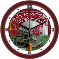 "Washington State Cougars 12"" Football Helmet Wall Clock"