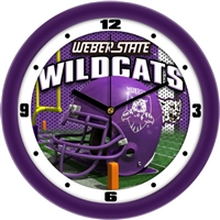 "Weber State Wildcats 12"" Football Helmet Wall Clock"