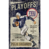 New York Giants Vintage Wall Art