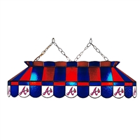 Atlanta Braves MLB 40 Inch Billiards Stained Glass Lamp