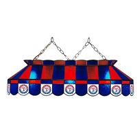Texas Rangers MLB 40 Inch Billiards Stained Glass Lamp