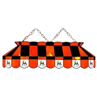 Miami Marlins MLB 40 Inch Billiards Stained Glass Lamp