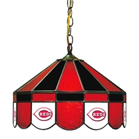 Cincinnati Reds MLB 16 Inch Billiards Stained Glass Lamp