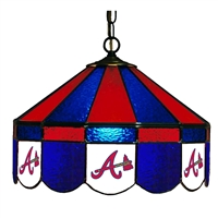 Atlanta Braves MLB 16 Inch Billiards Stained Glass Lamp