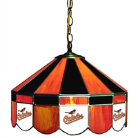 Baltimore Orioles MLB 16 Inch Billiards Stained Glass Lamp