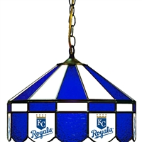 Kansas City Royals MLB 16 Inch Billiards Stained Glass Lamp