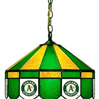 Oakland Athletics MLB 16 Inch Billiards Stained Glass Lamp