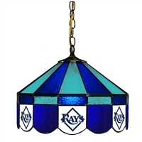 Tampa Bay Rays MLB 16 Inch Billiards Stained Glass Lamp