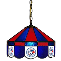Toronto Blue Jays MLB 16 Inch Billiards Stained Glass Lamp