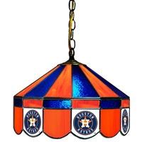 Houston Astros MLB 16 Inch Billiards Stained Glass Lamp