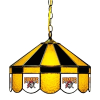 Pittsburgh Pirates MLB 16 Inch Billiards Stained Glass Lamp
