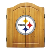 Pittsburgh Steelers NFL Dart Board w/Cabinet