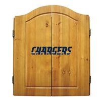 San Diego Chargers NFL Dart Board w/Cabinet