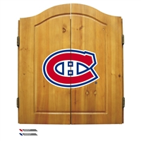 Montreal Canadiens NHL Dart Board w/Cabinet