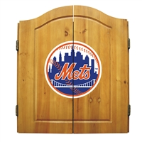 New York Mets MLB Dart Board w/Cabinet