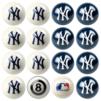 New York Yankees MLB 8-Ball Billiard Set