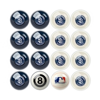 San Diego Padres MLB 8-Ball Billiard Set