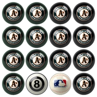 Oakland Athletics MLB 8-Ball Billiard Set