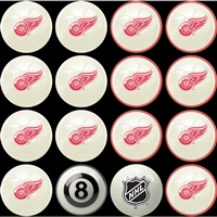Detroit Red Wings NHL 8-Ball Billiard Set