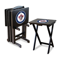 Winnipeg Jets NHL TV Tray Set with Rack