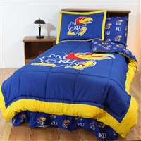 Kansas (KU) Jayhawks Bed in a Bag Queen - With Team Colored Sheets