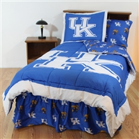 Kentucky (UK) Wildcats Bed in a Bag Queen - With Team Colored Sheets