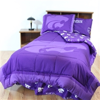 Kansas State (KSU, K-State) Wildcats Bed in a Bag Queen - With Team Colored Sheets