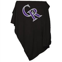 Colorado Rockies MLB Sweatshirt Blanket