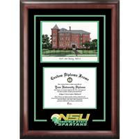 Norfolk State Spirit Graduate Frame with Campus Image