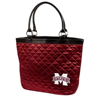 Mississippi State Bulldogs NCAA Quilted Tote (Dark Red)