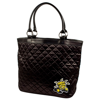 Wichita State Shockers NCAA Quilted Tote (Black)