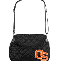 Oregon State Beavers NCAA Quilted Saddlebag (Black)