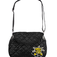 Wichita State Shockers NCAA Quilted Saddlebag (Black)